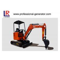 Buy cheap 1.8 Tons Digging Wheel mini Excavator For Construction , 0.05cbm Vibratory Plate Compactor product