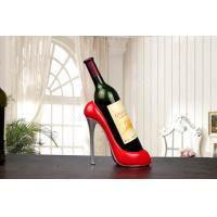 China Non Toxic Resin Ornament Crafts , Custom Color Wine Bottle Holder on sale