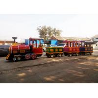 Pollution Free Trackless Train Amusement Ride With Smoke Steam Spray Device