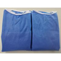 Anti Dust Blue Disposable Hospital Gowns , Safety Protective Clothing