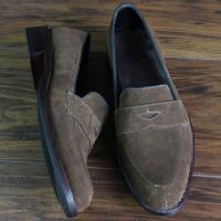 Skyeshopping Genuine Seude Leather Men's Shoes Slip on Custom Made Loafers