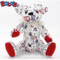 """Buy cheap 10"""" Customized Made Stuffed Bear Toys be made in Fashion Printing Fabric product"""
