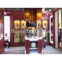 China Tempered-glass wine display rack/kiosk in Shenzhen on sale