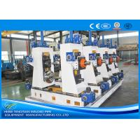 Buy cheap Automatic Carbon Steel Tube Mill , 3mm Thick Square Pipe Making Machine product