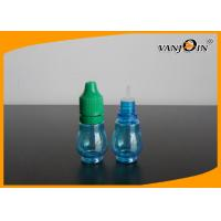 China 15ml Empty Blue E-cig Liquid Bottles with Colorful Screw Caps , Plastic E Liquid Bottles on sale