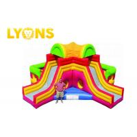 Buy cheap Funny Giant Rainbow Inflatable Bouncer Combo for Children / Castle Bounce House With Two Slides product