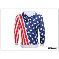 Quality Unisex USA American Flag Printed Long Sleeve Pockets Slim Pullover Hoodie for sale