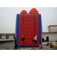 China Adult Red Inflatable Rock Climbing Wall For Inflatable Water Parks on sale