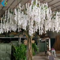 Buy cheap White Artificial Flower Tree For Wedding , 5-10 Years Life Time Faux Flower Tree product