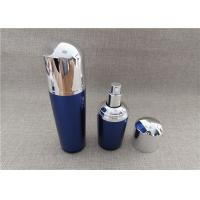 Buy cheap Blue Color Acrylic Lotion Dispenser , Acrylic Empty Lotion Bottles With Pump product