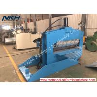 Buy cheap Color Customized Roofing Sheet Crimping Machine For Roofing / Trapezoidal Profile product