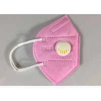 Buy cheap Disposable GB2626-2006 KN95 Earloop Face Mask With Valve In Pink from wholesalers
