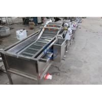 China Automatic Ozone Air Bubble Vegetable Washing Machine For Tomato Celery Salad on sale