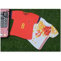Buy cheap Custom Jersey Shape Soccer Team Marketing Promotional Gifts Mouse Pad Digital Printed For Computer product