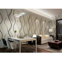 Buy cheap Dining Room PVC Modern Removable Wallpaper With Black Wave Printing product