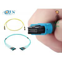 Buy cheap Factory price 8 12 24 fiber OM3 Plenum MPO/MTP Trunk Cable OM3 OM4 12Fiber 24 Fiber 100G product