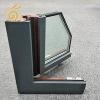 China Powder Coated Outside Storefront Frames Aluminum-Clad Wood Windows on sale