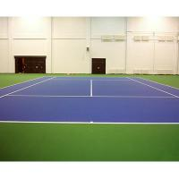 Colored PU Sports Flooring Materials For Multi Purposed Surface Refresh Builder