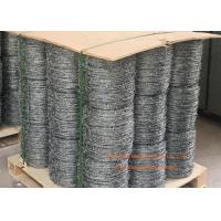 Buy cheap Electro Galvanized Fence Barbed Wire For Grass Boundary / Highway Protecting product