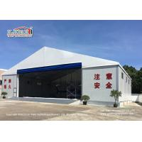 Buy cheap White Color Permanent Relocatable Aircraft Hangar 25 X 50 Side Hard Wall product