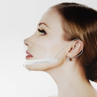 Buy cheap Reusable Sanitary Transparent Plastic Mouth Cover from wholesalers