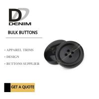 Buy cheap Fancy Extra large Black 3 inch black buttons Trims Plastic & Resin Bulk product