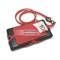 Buy cheap Factory new mold Silicone phone wallet with lanyard, silicone lanyard cell phone holder product