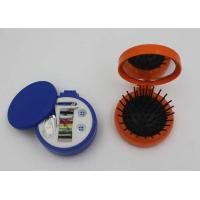 China Round Plastic ABS + Rubber + Nylon Mini Sewing Kit / Compact Hair Brush With Mirror wholesale