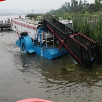 Buy cheap Depth 0.8m Garbage Collecting Boat product