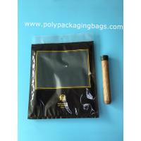 Buy cheap Custom LOGO fashion cigarette zipper lock moisturizing fresh plastic bag with transparent windows product