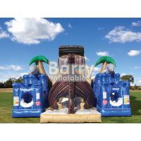 China Treasure Island Inflatable Obstacle Courses Jungle Pirate Ship Inflatable Bouncer wholesale