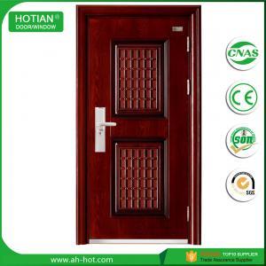 Buy cheap exterior steel security door with glass/iron design stronger steel door product