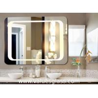 Buy cheap Wall Mounted Defogging LED Bathroom Mirrors 3-6mm Thickness With Touch Button product