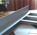 Construction Extrusions Waterproof Aluminum Decking , Aluminium Skirting Profiles
