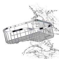 Buy cheap Bathroom Accessory Corner Basket Shelf Stainless Steel Easy Installation product