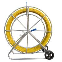 China Floor Installation Fiberglass Duct Rodder , 6mm X 100 Meter Cable Pulling Rodder on sale