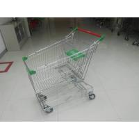 Buy cheap Professional 125L Supermarket Shopping Trolley With Wire Mesh Base Grid , ROHS from wholesalers