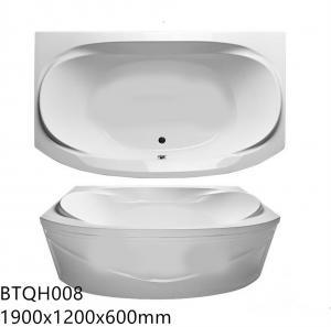 Buy cheap Eco Friendly Indoor Freestanding Acrylic Bathtub ,Rectangular Freestanding Tub product