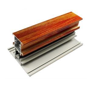 Buy cheap El aluminio de madera del final de la forma de T perfila la longitud modificada para requisitos particulares para las puertas de cristal product