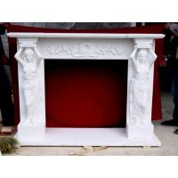 Buy cheap Elegance Stone Fireplaces Carving With Stone Lady Statue product
