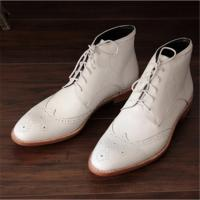 Handmade goodyear men boots shoes genuine leather