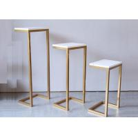 Buy cheap MDF + Steel Shopping Mall Store Display Tables With Top White Panel Free Collocation product
