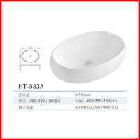 Quality china used bathroom vanity cabinets oval shape wash basin for sale for sale