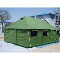 Buy cheap Refugee PVC Fabric Canvas Army Tent Rot Proof With Strong Wind Resistant product