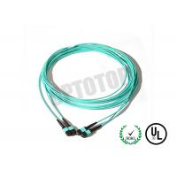 Buy cheap Multi Mode MPO Fiber Optic Patch Cord Male / Female Aqua , Corning Cable product