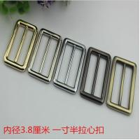 Buy cheap New product 38 mm hanging brush anti brass color zinc alloy metal slide adjustable buckles for bag hardware product