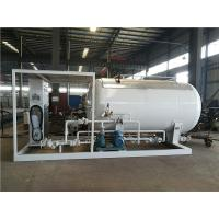 Buy cheap LPG Propane Butane Gas Tank , Q345R Carbon Steel Gas Filling Plant With Dispenser product