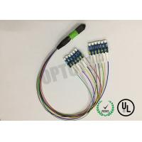 Buy cheap MPO - 12 Core Fiber Optic Cable , LC / UPC MPO Patch Cord Single Mode 0.9mm Cable product