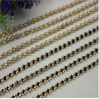 Buy cheap Refined custom bag fitting pearl decorative 6 mm width light gold chain for crossbody bag product