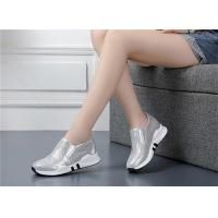 Quality Womens Elevator Sports Shoes Slip-on Sneakers Rhinestones Decoration Genuine Leather for sale